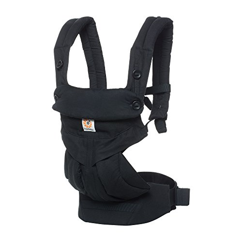 Ergobaby 360 All Carry Positions Award-Winning Ergonomic Baby Carrier, Pure Black