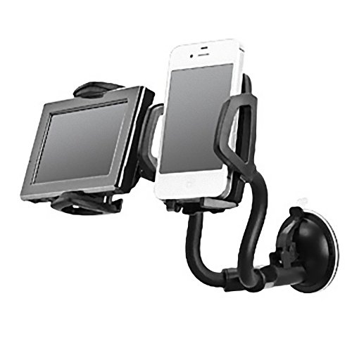 Unique Gadget Universal Car Dual 2 Mobile Stand Holder Mount Sucker for Mobile Iphone GPS MP4