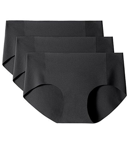 Lapasa 3-Pack Women's Hip Brief Panty (X-Large, Black)