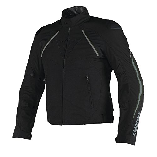 Dainese Hawker D-Dry Mens Textile Motorcycle Jacket Black/Ebony 54 Euro/44 USA