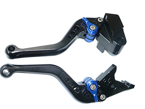 LUO CNC Short Brake Clutch Levers for Yamaha MT-07/FZ-07 2014-2016,FZ1 Fazer 2006-2013,FZ6 Fazer 2004-2010,FZ6R 09-15,Fazer 600 1999,FZ8 2011-2015,MT-09/SR/FZ9 2014-2015,XJ6 Diversion 09-15-Black (07 Short Box)