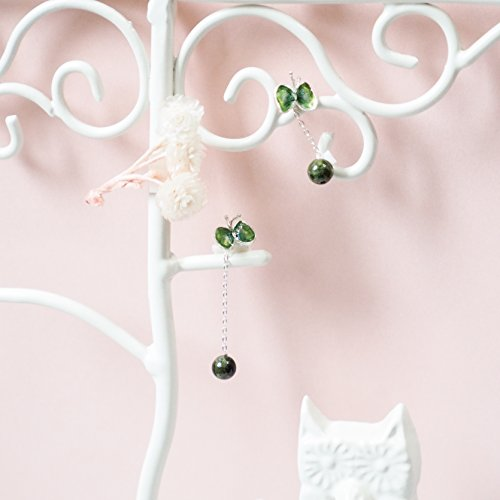 Butterfly earrings with Tourmaline/Asymmetry style earrings(Make by order)