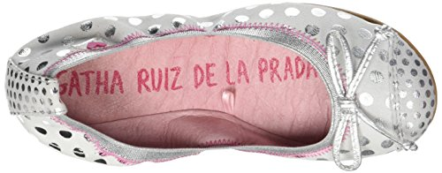 Ágatha Ruiz De La Prada Damen Ballerinasreeks Pica Blanc (witte Stippen Druk)