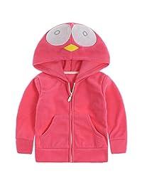 Baby Polar Fleece Jackets Hooded Jackets Boys Girls Spring Coats for 1-6 Years