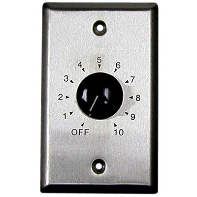 MG Electronics TSLA-10 70V Volume Control on Single Gang Plate ()