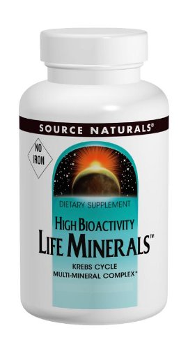 Source Naturals Life Minerals No Iron, Krebs Cycle Multi-Mineral Complex,60 Tablets