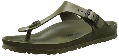 Birkenstock Womens Gizeh EVA Sandals Khaki Size 42 M (Birkenstock Embossed Sandals)