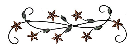 Fetco Home Décor Katelyn Floral Scroll Wall Art