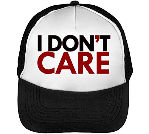 I Do Not Care Quotes Collection Mind No Worries Innatentive Gorras Hombre Snapback Beisbol Negro Blanco