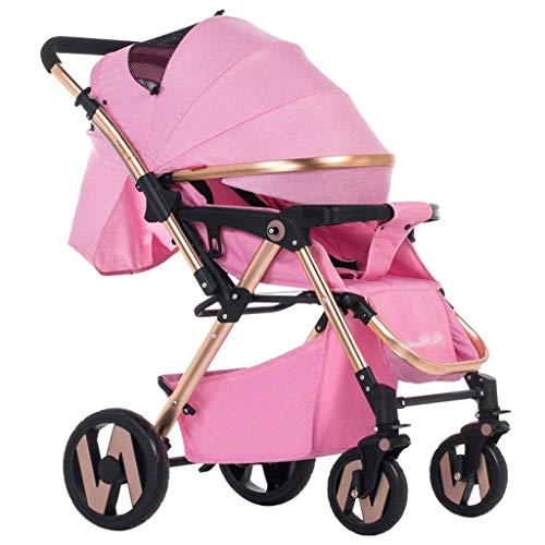Zsail Baby Stroller High Landscape Ultra Light Portable Folding Pram Four Seasons Universal Multi-Function Two-Way Four-Wheel Cart