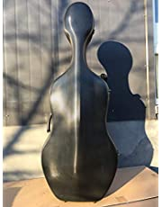 music-life Advance 4/4 Cello Case Carbon Fiber Cello Box Hard case Carry Protect Cello parts Black