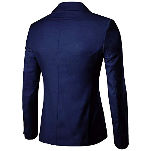 Slim Fit Uomo Giovane Un Top Smoking T Saoye Marine Fashion Elegante Sportiva Bottone Abito Giacca Sposa Da A shirt qtEH1n