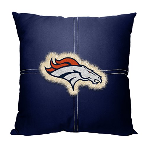 Broncos OFFICIAL National Football League, 18 x 18 Letterman Pillow by Northwest Official