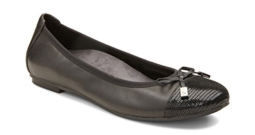 Vionic with Orthaheel Technology Women's Minna Ballet Flat,Black,US 8 M 359MINNA