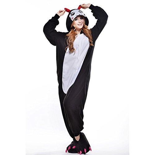 notte per Costume Pigiama Amurleopard adulto Costume Pinguino da Tuta Abbigliamento Abbigliamento Diavolo Unisex Animale Tutina Nero L 4c8PHExqPw