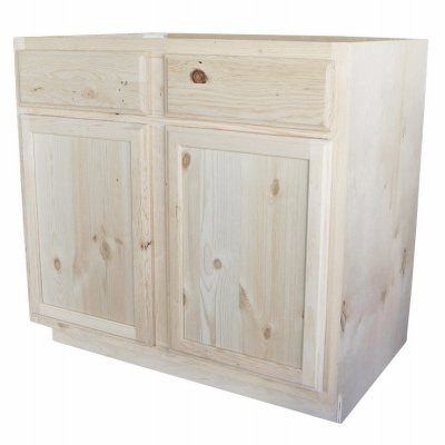 Kapal Kitchens B36-pfp Unfinished Base Assembled Cabinet, Pine, 36