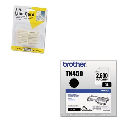 KITBRTTN450SOF48106 - Value Kit - Softalk Telephone Extension Cord (SOF48106) and Brother TN450 TN-450 High-Yield Toner (BRTTN450)