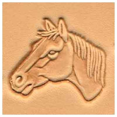 (Springfield Leather Company Horse Head (Left Facing) 3D Leather Stamp)