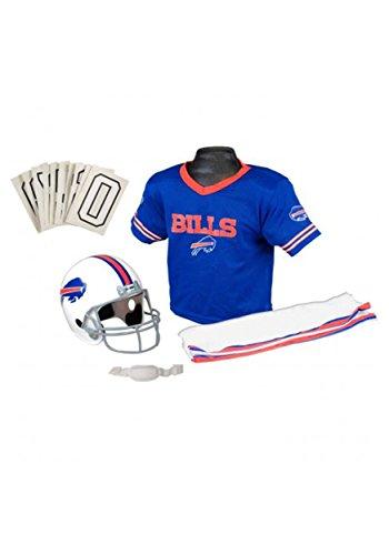 [Franklin Sports NFL Bills Deluxe Uniform Set - Medium] (Male Football Player Costume)