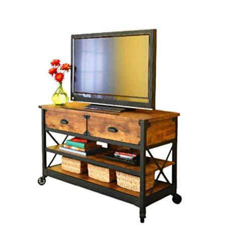 ssmill TV Stand Farmhouse Entertainment Console Table Media Wood Decor Shelf Storage Drawers 3 Tier CD DVD Bar & Ebook by AllTim3Shopping. ()