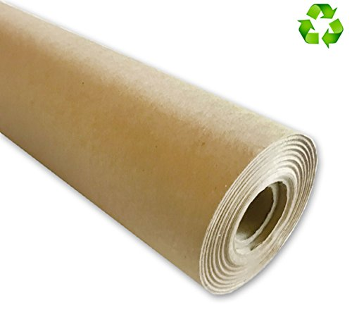 "Eco Kraft Paper Roll, Large 30"" x 1200"" (100ft), MADE IN THE USA from 100% Recycled Material"