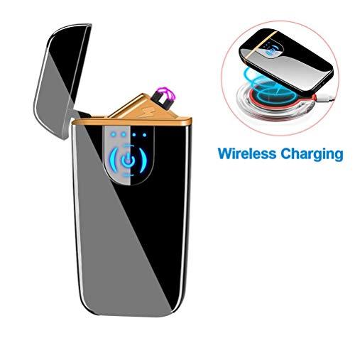 Dibikou Plasma Lighter Windproof Flamless Lighter USB Rechargeable Lighter Wireless Charge Lighter