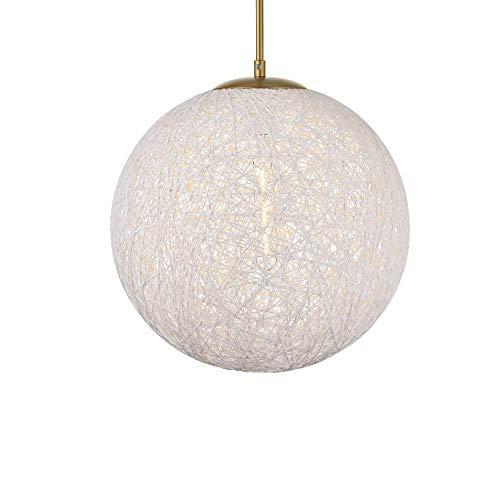 Elegant Lighting Malibu 1 Light Brass Pendant with White Paper - 1 Malibu Light Pendant