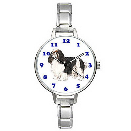 Spaniel Italian Charm Watch - BMTC516 Cavalier King Charles Spaniel Dog Italian Charm Bracelet Mens Ladies Watch