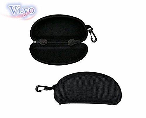 Vi.yo Glasses Case Sunglasses Safety Zipper Hard Case Holder With Carabiner Hook (Black) by Vi.yo (Image #5)