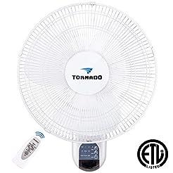 Tornado 16 Inch Digital Wall Mount Fan -...