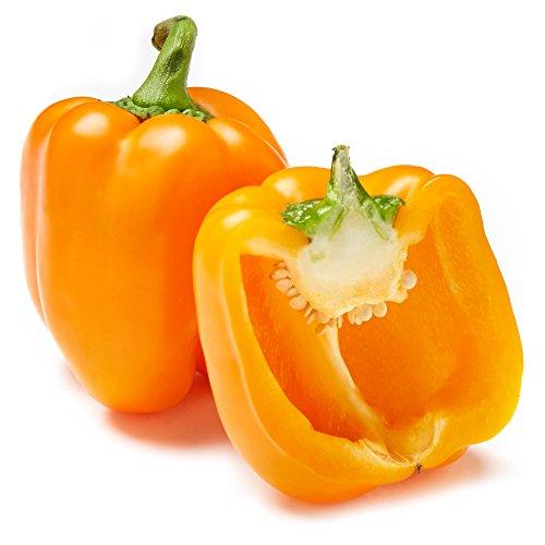 Organic Orange Bell Pepper, One Medium