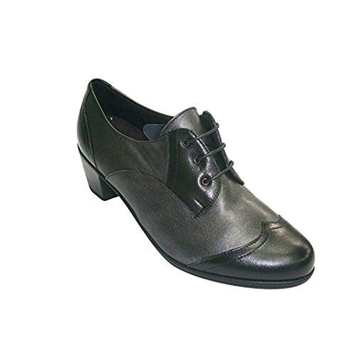 en de Chaussures Femme Noir PITILLOS Dentelles combiné EqaXXA