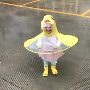 Fantasyworld Impermeable Flying Saucer Niños Cartoon Yellow ...
