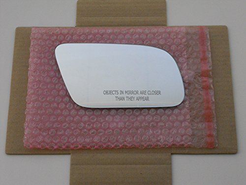 Audi Mirror Glass (HEATED Mirror Glass (Non-Blue) with BACKING PLATE for AUDI A4 A6 A8 S4 S6 S8 Passenger Side View Right RHCHECK PICTURE AND SIZE IN DESCRIPTION - 2 OPTIONS AVAILABLE)