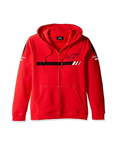 Scarlet Pullover Sweatshirt (ALPINESTARS Men's GP Zip Fleece Sweatshirt, Scarlet, X-Large)