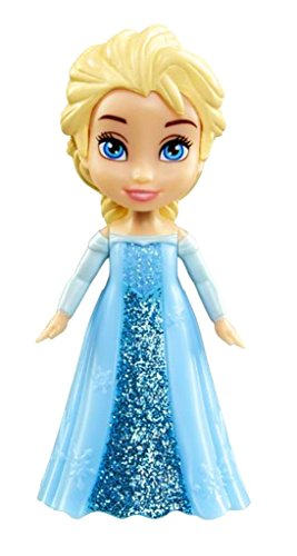 Disney Princess Poseable Elsa Movie Dress Mini Toddler Glitt