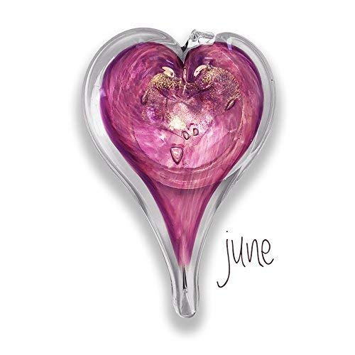 - Luke Adams Glass Small Heart June Birthstone