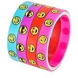 Emoji Smile Emoticon Silicone Wristband Bracelets