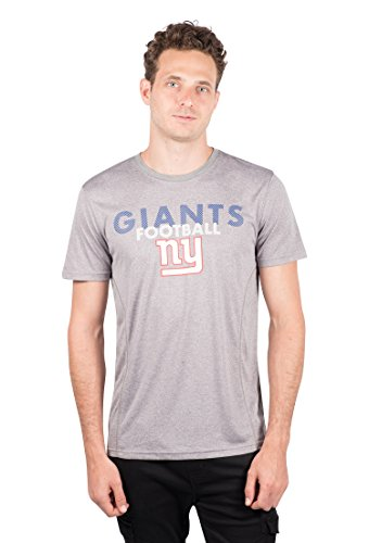 NFL New York Giants Men's T-Shirt Athletic Quick Dry Active Tee Shirt, X-Large, Gray