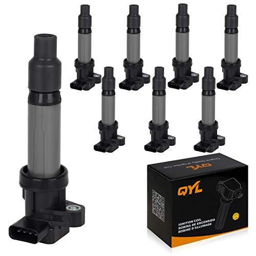QYL 8Pcs Ignition Coil Pack Replacement for Buick Lucerne Cadillac SRX STS XLR DeVille Pontiac Bonneville V8 4.6L UF564 12594176 12670154 099700-0940 C564