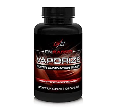 Enraged Nutrition Vaporize Water Elimination Blast with Herbal Diuretics for Enhanced Muscle Definition | Helps with Water Retention and Bloating, 120 Capsules