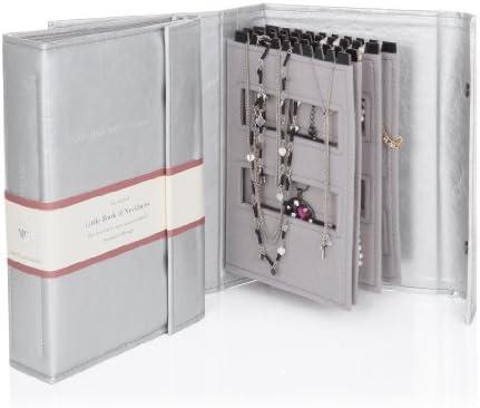 Little Book Of Necklaces - Organizador de joyas para armario - Caja de joyería collares - Silver: Amazon.es: Hogar