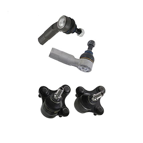 Detroit Axle - 4pc Front Lower Ball Joints, Outer Tie Rod Kit for 06-13 Audi A3 - [06-13 Audi A3 Quattro] - 07-14 VW Eos - [10-14 VW Golf] - 06-14 GTI - [06-14 Jetta] - 08 R32 - [06-09 Rabbit] ()