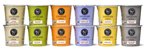 Vigilant Eats Superfood Cereal   Organic, Gluten Free, Vegan, Non GMO, Kosher   2.7 oz Cup (12 Count Variety Pack)
