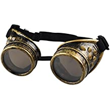 Mr.Macy Vintage Style Steampunk Goggles Welding Punk Gothic Glasses Cosplay