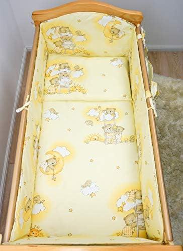 5 pièces Chambre Parure de lit pour lit bébé 120x60 cm - motif 3