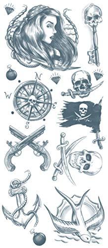 Tinsley Transfers Pirate Buccaneer Temporary Tattoo Kit, Standard]()