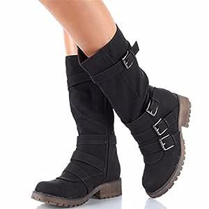 RFF-Women's Shoes Americana Largo Invierno Botas del