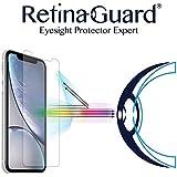"RetinaGuard Anti-Blue Light Tempered Glass Screen Protector for iPhone XR 6.1"" (Transparent) - SGS & Intertek Tested - Blocks Excessive Harmful Blue Light, Reduce Eye Fatigue and Eye Strain"