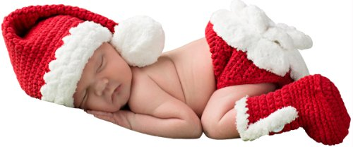 Melondipity Little Miss Claus Christmas Baby Hat, Diaper ...